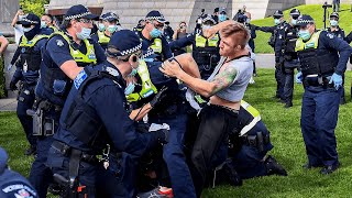 video: Watch: Anti-lockdown protests turn violent in Melbourne
