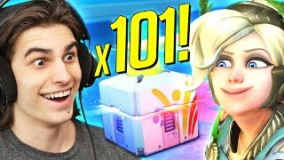 101x SUMMER GAMES LOOTBOX OPENING! Overwatch Summer Event 2017 Video