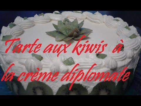 Recette de tarte aux kiwis à la crème diplomate et à l'agar-agar