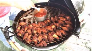How To Smoke Chicken Wings on the Weber Kettle Master Touch!