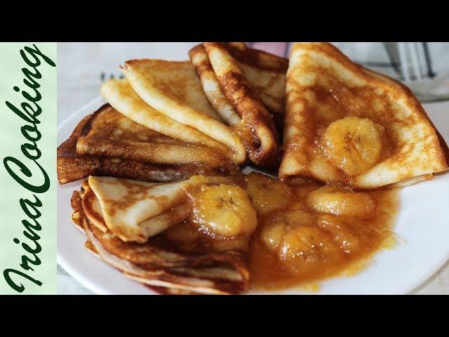 Блины на Кокосовом Молоке с Бананами 🥞 Pancakes with coconut milk ○ Ирина Кукинг