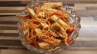 Корейский салат из спаржи