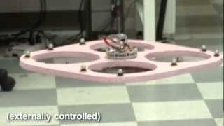 Quad-rotor Control by Optic Flow