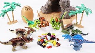 Dinosaurs Block Building 12Types Funny Animals Blocks - Dinosaur Block Toys for Kids