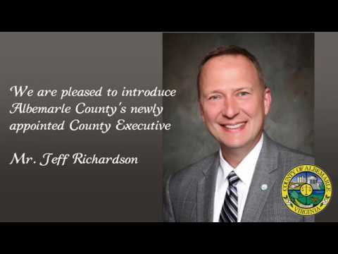 Introducing Albemarle County's New County Executive!