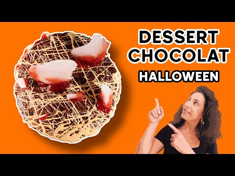 gÂteau-au-chocolat-ensanglantÉ---halloween-:-ganaches-chocolat,-verre-en-sucre,-faux-sang-🍫🍓🎃👩🏻🍳