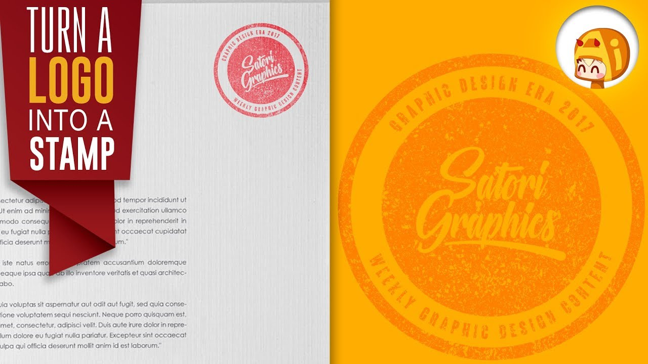 ADD A STAMP EFFECT TO YOUR LOGO IN ILLUSTRATOR | Satori Graphics