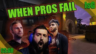 CS:GO - WHEN PROS FAIL ! (Best fails, awkward moments FUNNY FAILS)