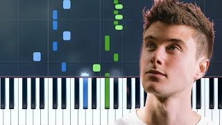 """Alec Benjamin - """"Let Me Down Slowly"""" Piano Tutorial - Chords - How To Play - Cover"""