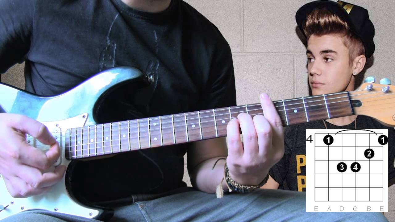 Justin Bieber All That Matters Guitar Lesson Tutorial Youtube