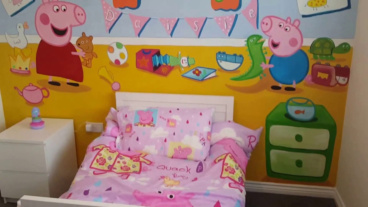 Peppa Pig Mural By Drews Wonder Walls George Too Time Lapse Part 72