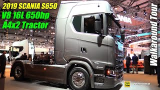 2019 Scania S650 A4x2 650hp 16L V8 Tractor - Exterior and Interior Walkaround - 2018 IAA Hannover