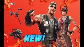 FORTNITE NEW BACKBONE & CHOPPER SKIN & THROTTLE PICKAXE & BLAZE GLIDER AVAILABLE NOW