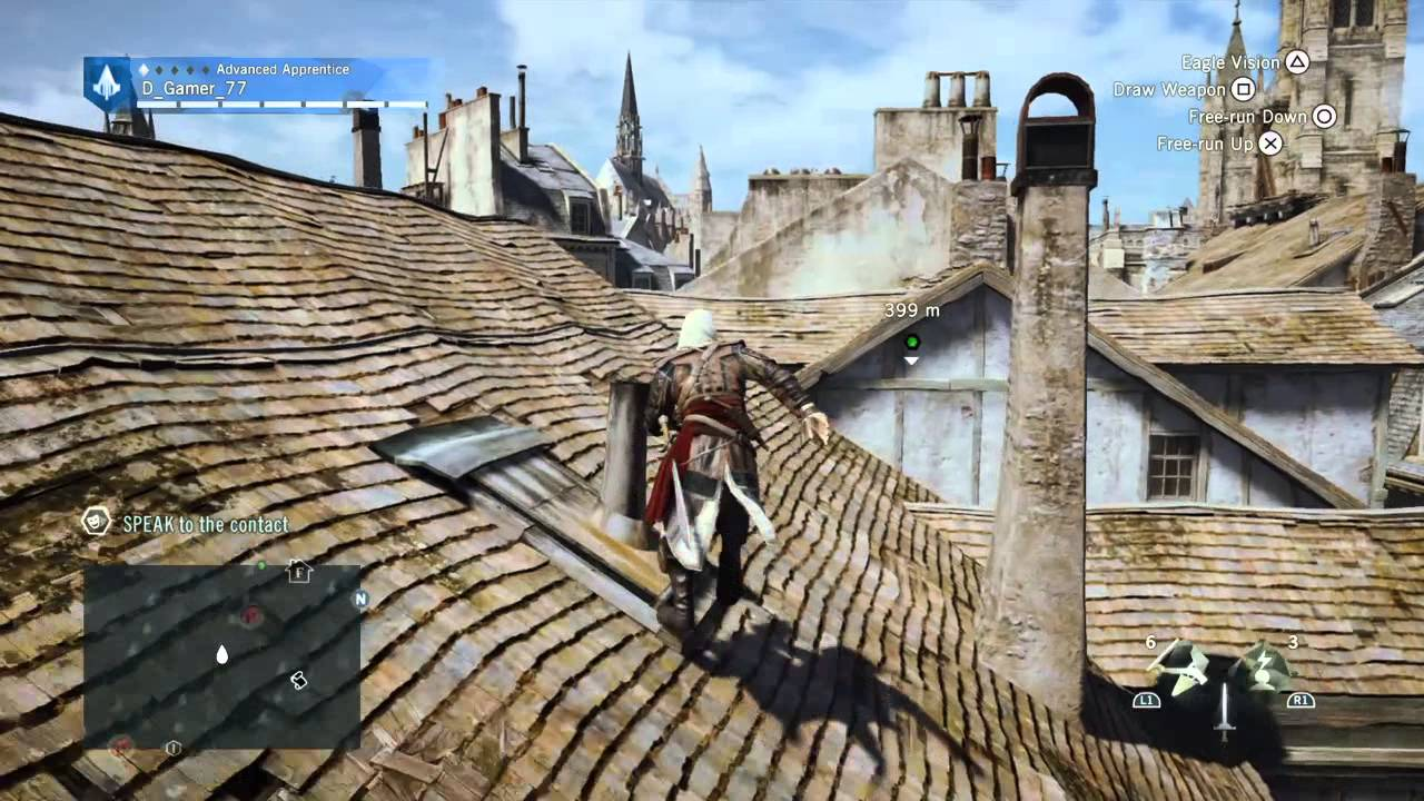 Assassin S Creed Unity Jump Thru Window Youtube
