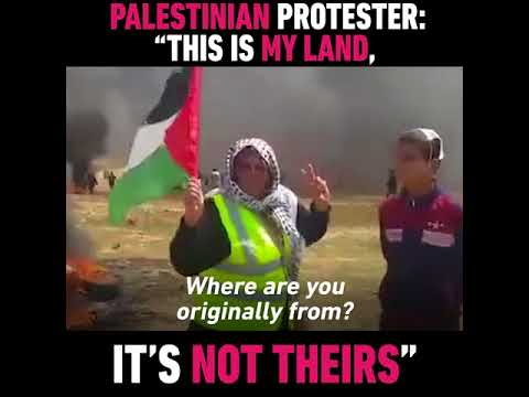 Palestinian Woman on Why she's Participating in Gaza Protests