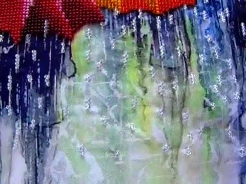 Веселые зонтики вышивка