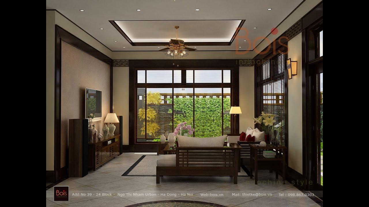 Thiết kế nội thất biệt thự Ecopark Park Rever phong cách Đông Dương