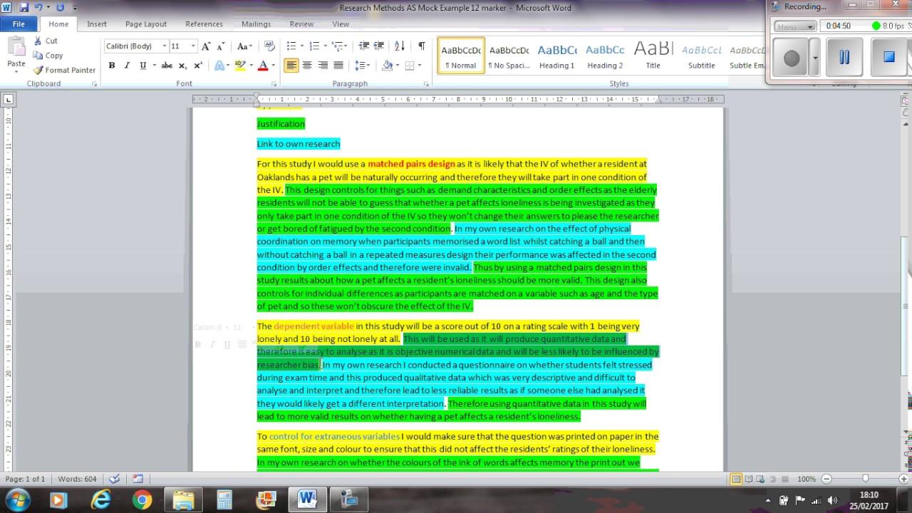 Psychology 12 marker
