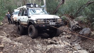 3 hours to travel 300metres!  Mt Sunday Road - Mt Skene 4x4. 80 Series Landcruiser, Prado 150.