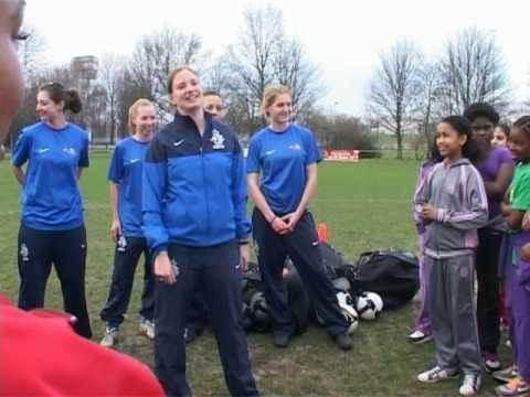 KSJB meiden voetbal clinic