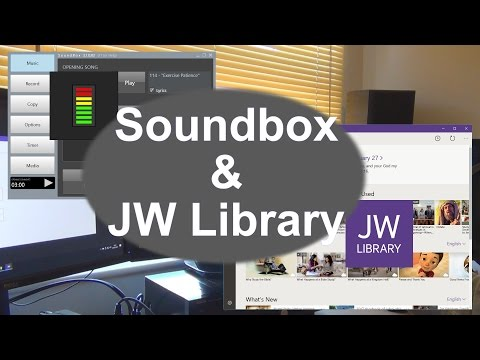 Using Soundbox & JW Library together - YouTube