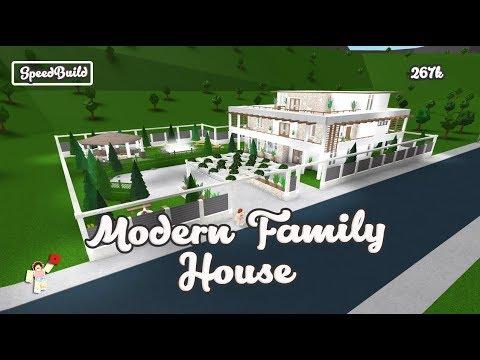 Roblox Bloxburg Speedbuild Modern Family House Youtube