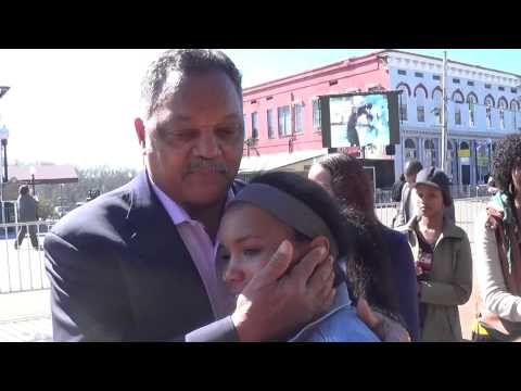 Rev. Jesse Jackson hugs Hosea Williams
