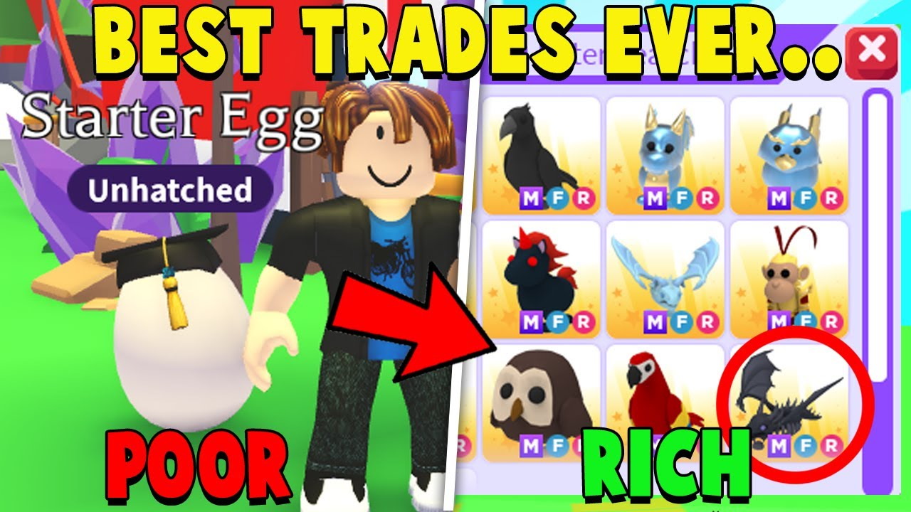BROKE to RICH Trading Challenge in Adopt Me!