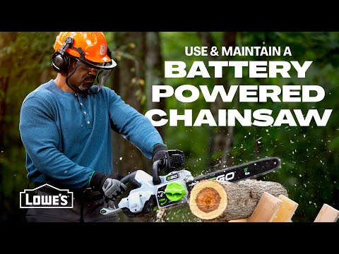 How To Use and Maintain a Battery Powered Chainsaw