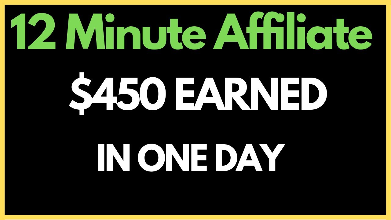 12 Minute Affiliate Review 2020   450 In One Day   BONUSES