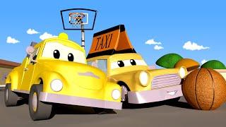 Эвакуатор Том - Такси Малыш Джереми получил травму играя в БАСКЕТБОЛ - детский мультфильм