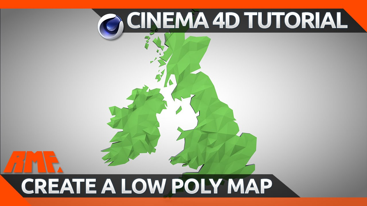 Cinema 4d tutorial create a low poly map youtube gumiabroncs Gallery