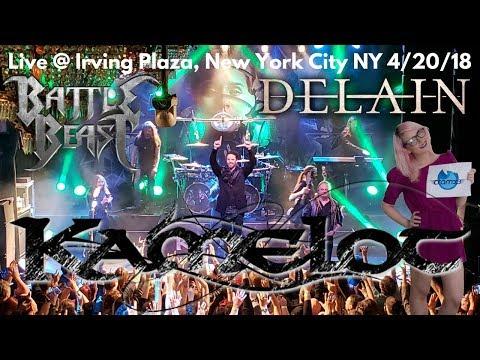 Kamelot Delain & Battle Beast LIVE @ Sold Out Irving Plaza New York City *cramx3 concert experience*