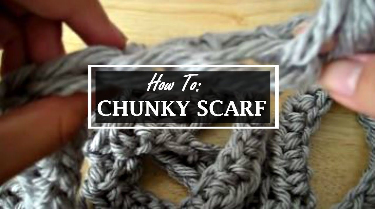 How to: Easily Crochet a Chunky Circle Scarf - YouTube