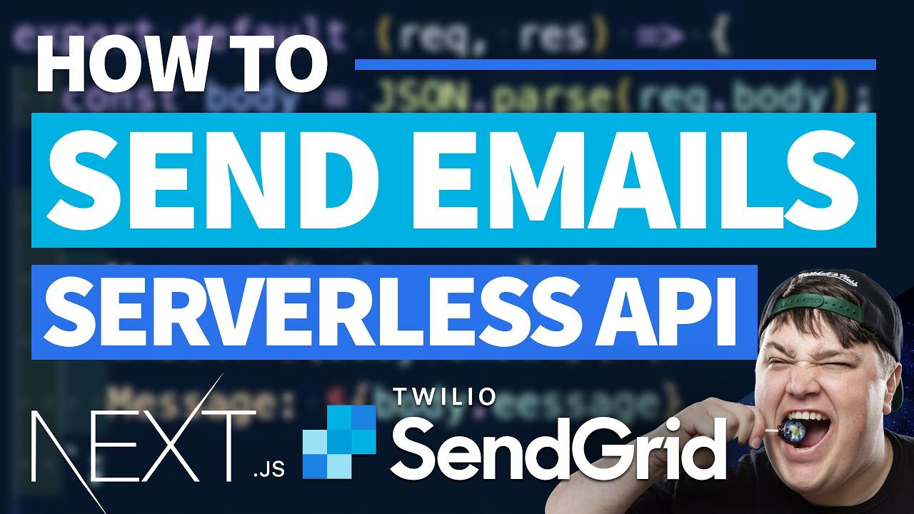 Send Emails with SendGrid & Next.js Serverless Functions - Contact Form Tutorial