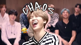 bts being a chaotic mess during interviews (try not to laugh) - funny moments
