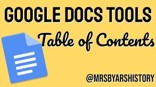 Google Docs - Table of Contents