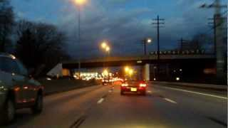New England Thruway (Interstate 95 Exits 15 to 21) northbound (Night)