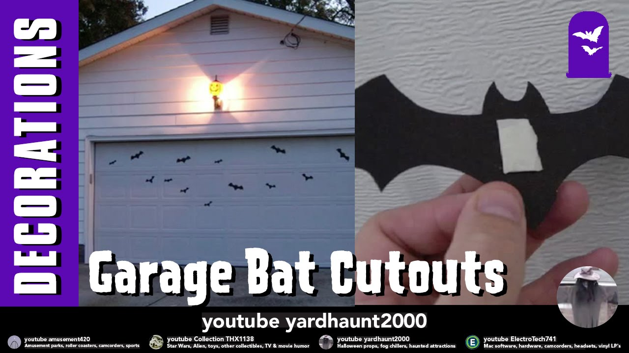 Halloween garage door decorations - Bat Cut Outs On Garage Door Simple Idea Halloween Video Slide Show