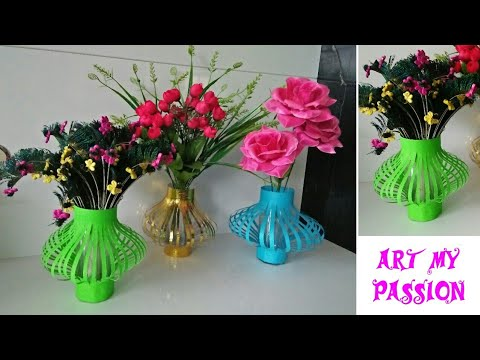 How To Make A Paper Flower Vase Diy Simple Paper Flower Vase