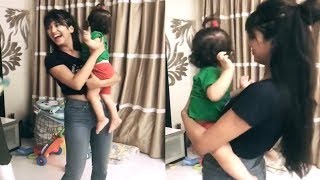 Shivangi Joshi Dancing With The Cute Baby In Her Arm