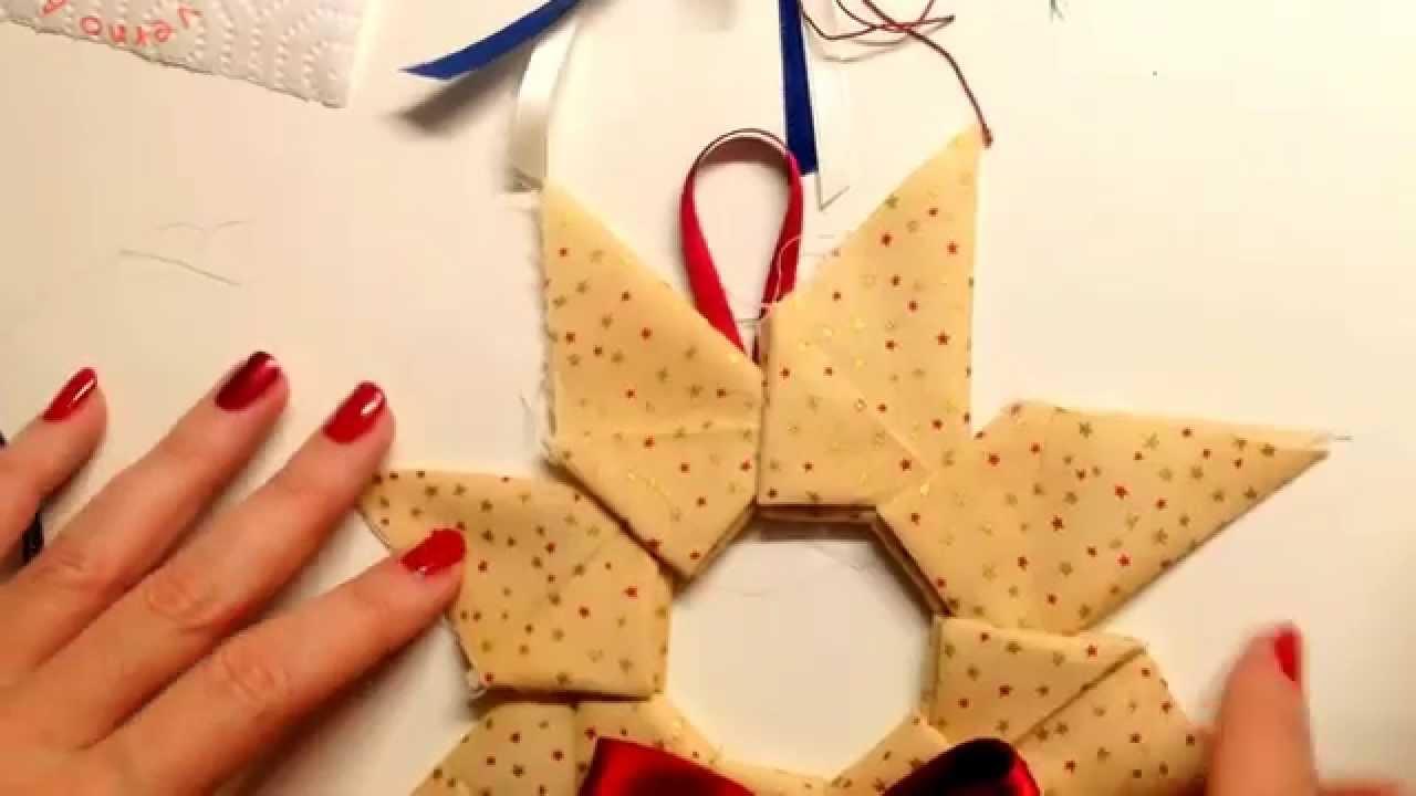 Stella Di Natale In Stoffa.Flash Conclusione Video Origami Stella Di Natale In Stoffa Youtube