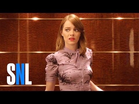 SNL Host Emma Stone Has Elevator Trouble