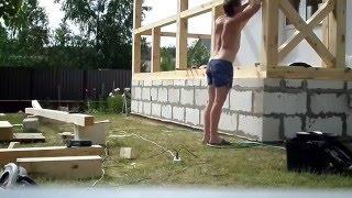 Строительство открытой террасы  (перезалито).(Постройка Террасы своими руками-это не сложный и довольно интересный процесс. В этом видео вы увидите как..., 2016-03-13T07:39:54.000Z)