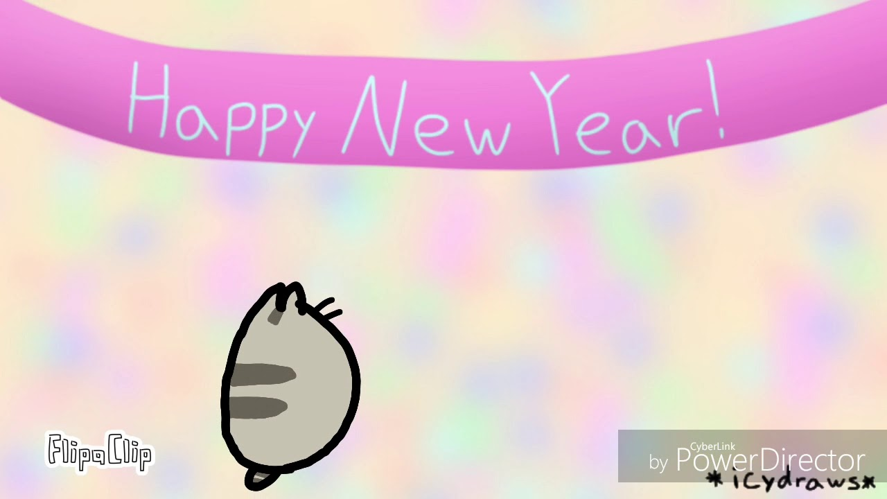 Pusheen New Year Animation