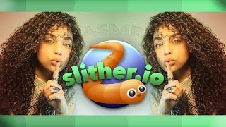 | ASMR | 🎮 Playing SLITHER.IO Mobile 🐍  | Mouth sounds | Close-up Whispering |