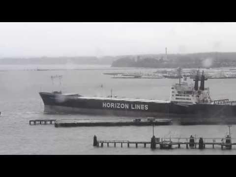 Horizon Fairbanks container ship breaks loose
