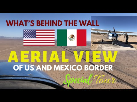 Behind The US And Mexico Wall|Aerial View Video Tour Of The US Mexico Border|Somerton Yuma Arizona