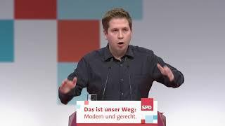 Rede SPD-Parteitag Kevin Kühnert