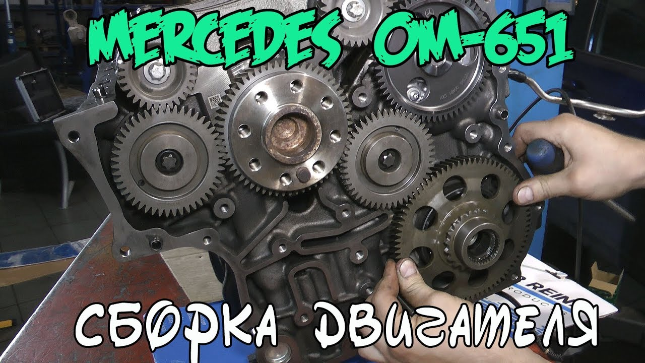 Сборка двигателя Mercedes Benz ОМ-651